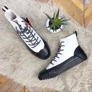 •HUNTER Target• Dipped Canvas High Top Sneakers